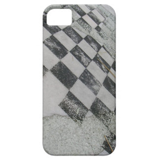 Chess board black and white grunge iPhone 5 case