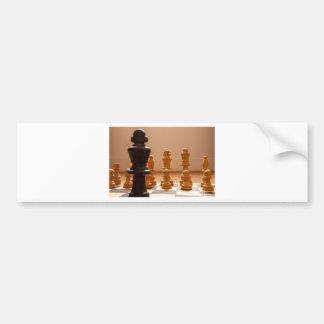 Chess board bumper sticker