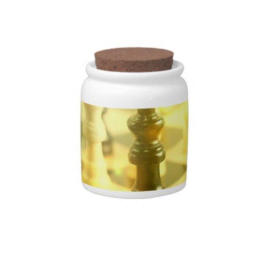 Chess Board  Candy Jar
