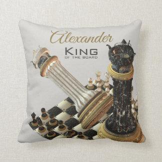 Chess Board Chess Champion Throw Pillow