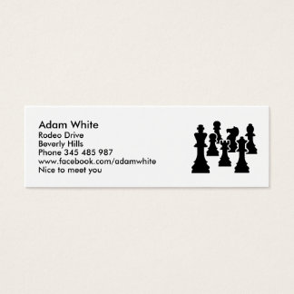 Chess board game mini business card