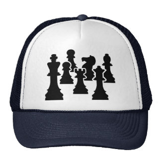 Chess board game trucker hat