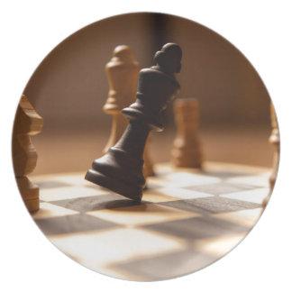 Chess board melamine plate