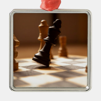 Chess board metal ornament