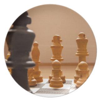 Chess board plate