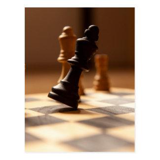 Chess board postcard