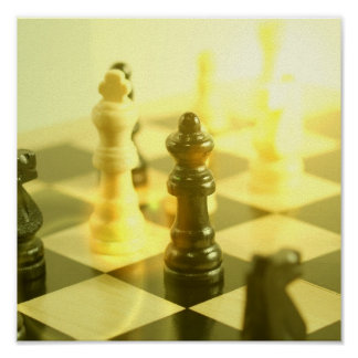 Chess Board Poster Print