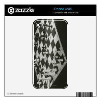 Chess Board Skin For iPhone 4