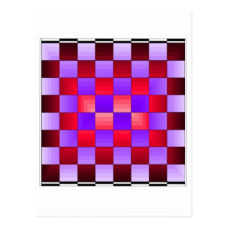Chess Board X1 CricketDiane Spectrum Colors Postcard