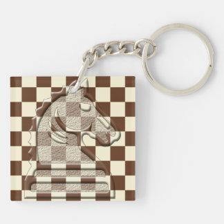 Chess Brown-Beige #1 Keychain