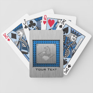 Chess; Brushed Metal-look Playing Cards