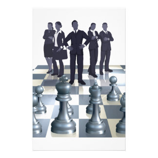 Chess Business Team Concept Personalized Stationery