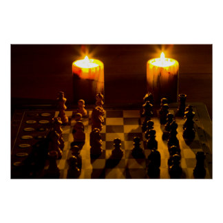 """Chess by candle light"" posters"
