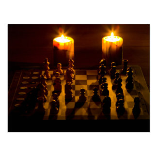 """""""Chess by candlelight"""" postcards"""