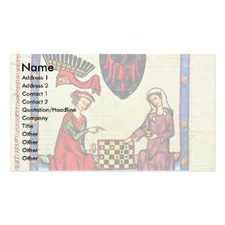 Chess,  By Meister Der Manessischen Liederhandsch Double-Sided Standard Business Cards (Pack Of 100)