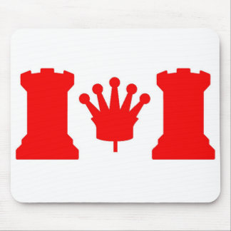 Chess Canada Flag Mouse Pad