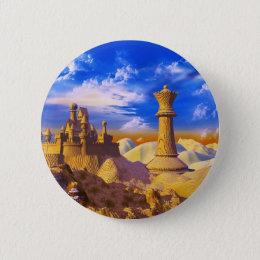 Chess Castle Pinback Button