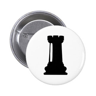 Chess castle pinback button