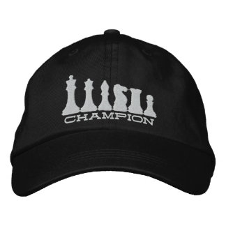 Chess Champion Embroidered Baseball Cap