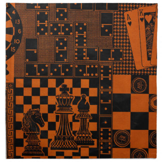 chess checkers dominos dominoes cloth napkin