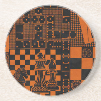 chess checkers dominos dominoes coaster