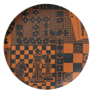 chess checkers dominos dominoes melamine plate