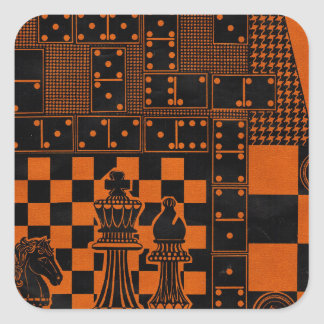 chess checkers dominos dominoes square sticker