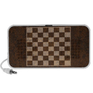 Chess, Checkers, Draughts Wood Veneer Chessboard iPod Speakers