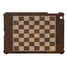 Chess Checkers Draughts Wood Veneer Ipad Mini Case at Zazzle