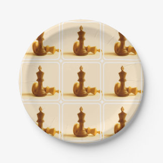 Chess Checkmate 7 Inch Paper Plate