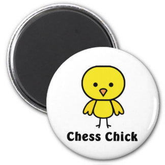 Chess Chick 2 Inch Round Magnet