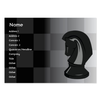 Chess - Chubby Business Card Templates