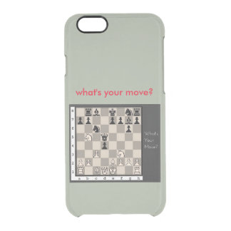 chess clear iPhone 6/6S case
