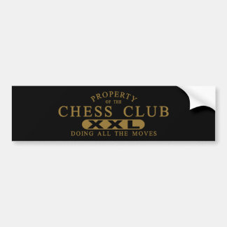 Chess Club Car Bumper Sticker