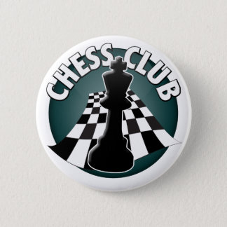 Chess Club Player or Chess Team Chessboard Picture Button