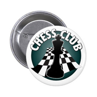 Chess Club Player or Chess Team Chessboard Picture 2 Inch Round Button