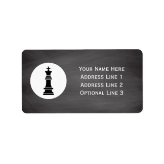 Chess Club Players   Personalized Chalkboard Label
