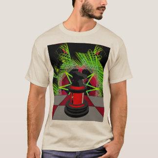 Chess CricketDiane Design Red Black Op Art T-Shirt