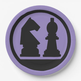 CHESS custom color paper plates