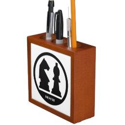 CHESS custom monogram & color desk organizer