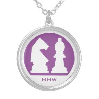 CHESS custom monogram & color necklace
