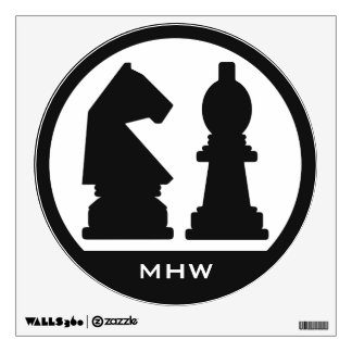 CHESS custom monogram & color wall decals