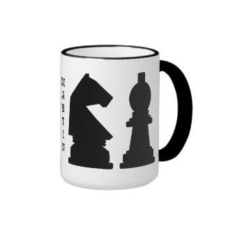 CHESS custom monogram mugs