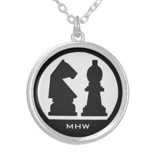 CHESS custom monogram necklace