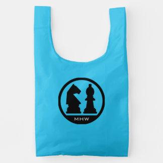 CHESS custom monogram reusable bags