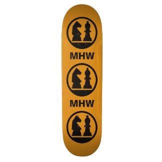 CHESS custom monogram skateboard