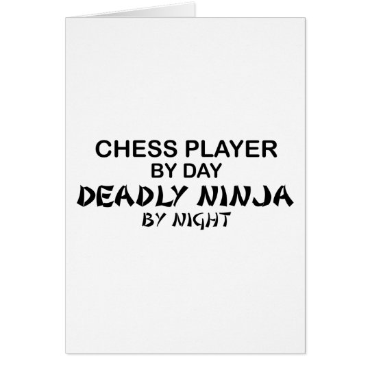 Chess Deadly Ninja by Night Card