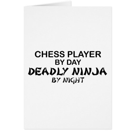 Chess Deadly Ninja by Night Cards