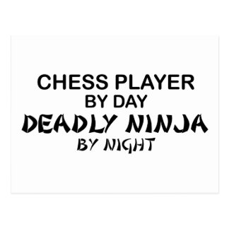 Chess Deadly Ninja by Night Post Card