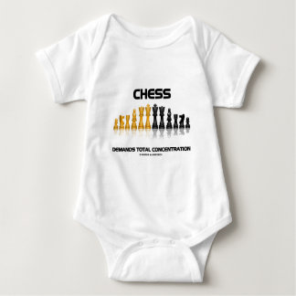 Chess Demands Total Concentration (Chess Set) Baby Bodysuit